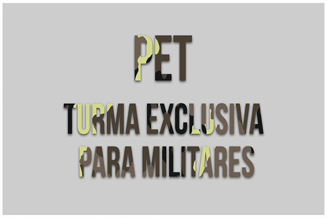 Curso Preparatório para a prova de Cambridge English Preliminary (PET) Turma exclusiva para militares